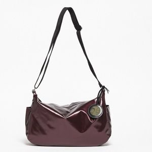 Jack Gomme Liris Medium Hobo Bag in Wine